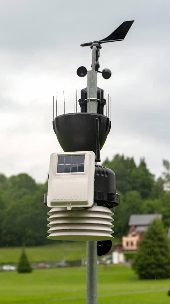 Pequeña estación Meteorologica
