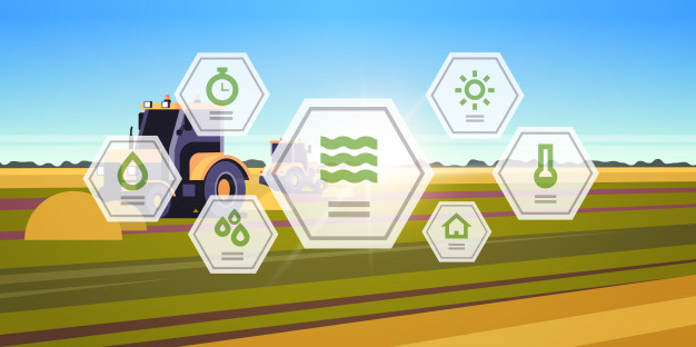 Tractor Arando tierra